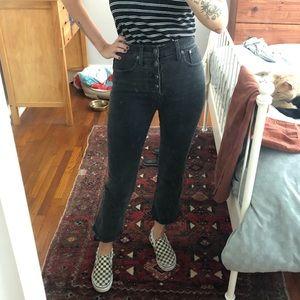 Madewell black Cali Boot jeans